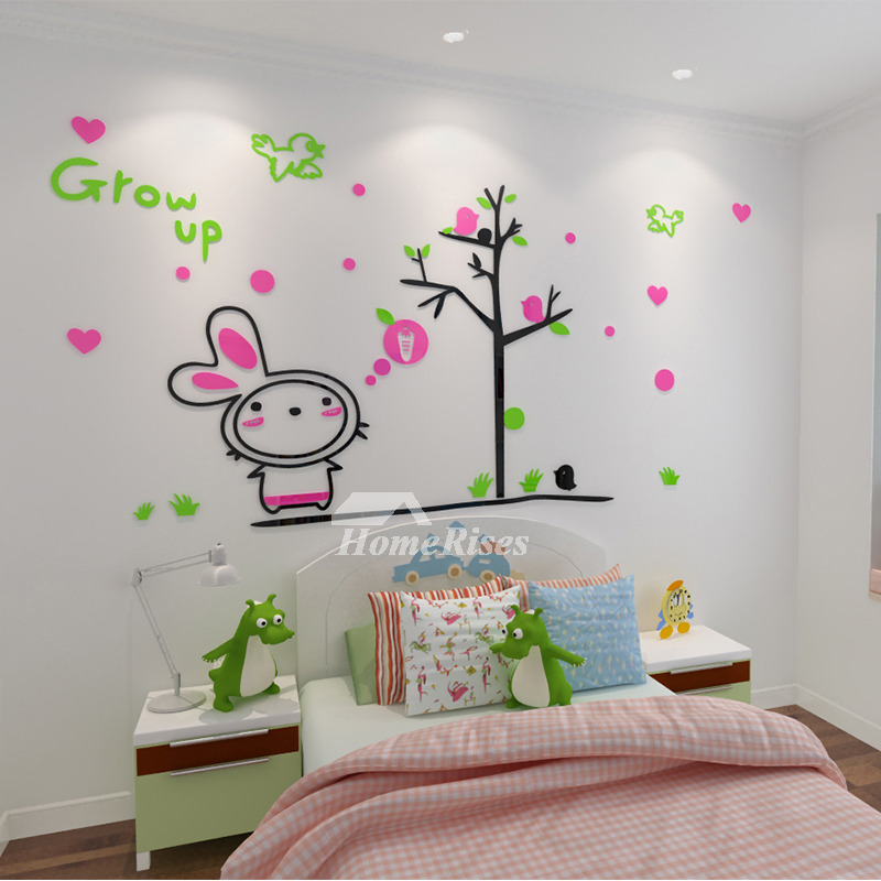 Animal Wall Decals Acrylic Rabbit Childrens Personalised Home Decor