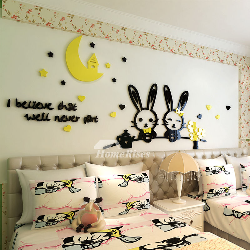 Girls Wall Decals Animal Letter Acrylic Home Decor Personalised