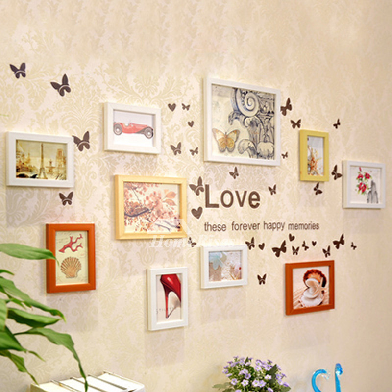 Decorative Wall Decals Pvc Home Decor Photo Frame Letter Designer