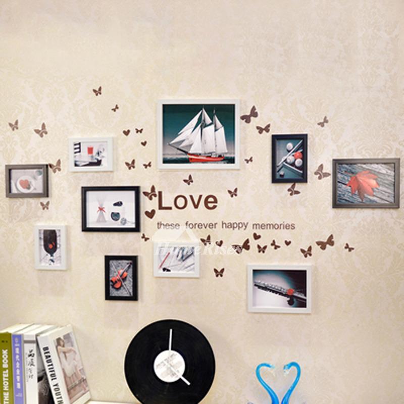 Decorative Wall Decals Pvc Home Decor Photo Frame Letter Designer