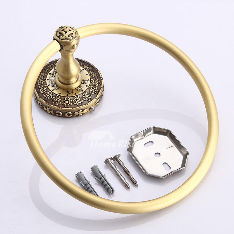 Ltj Luxury Square Towel Ring Bathroom Chrome Antique Brass