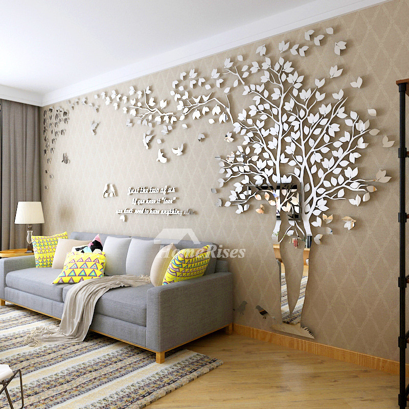 Wall Decor For Home: Wall Decals For Living Room Tree Acrylic Home Personalised