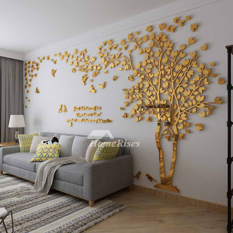 tree wall decals for living room wall decals for living room tree acrylic home personalised 24061