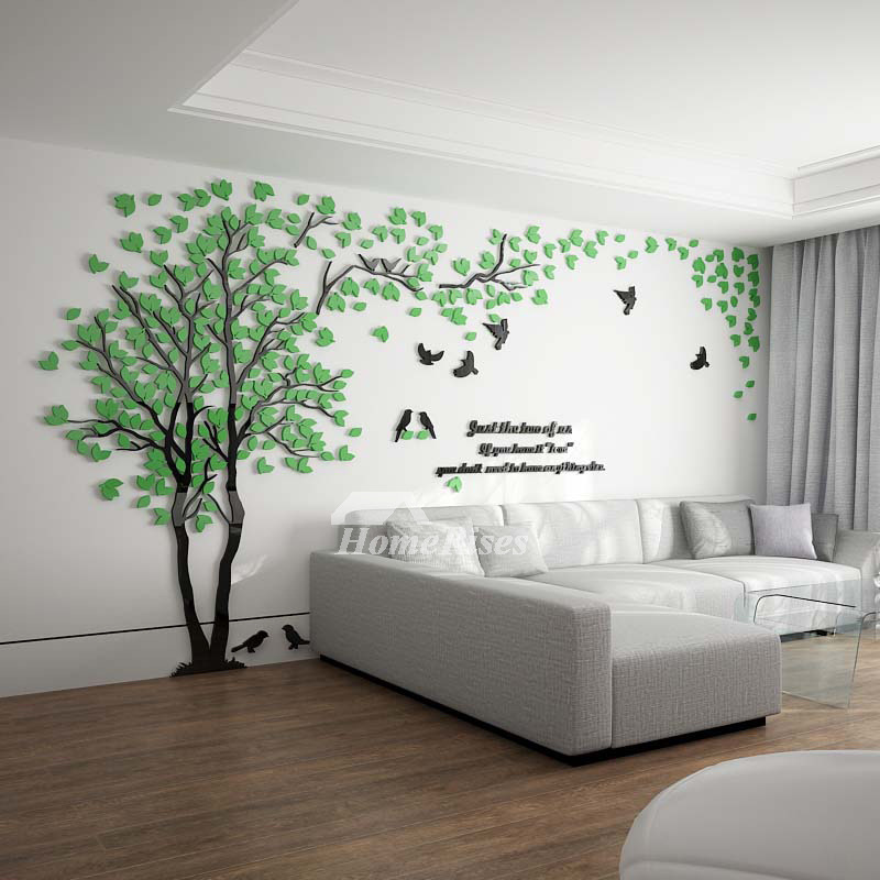 tree wall decal 3d living room green/yellow acrylic best decorative