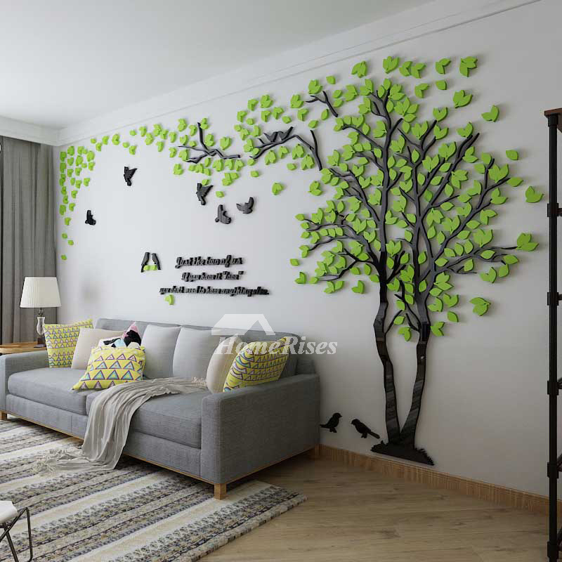 Tree Wall Decal 3d Living Room Green Yellow Acrylic Best