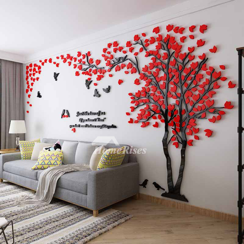 Wall Decals For Home Tree Letter Acrylic Decorative Self