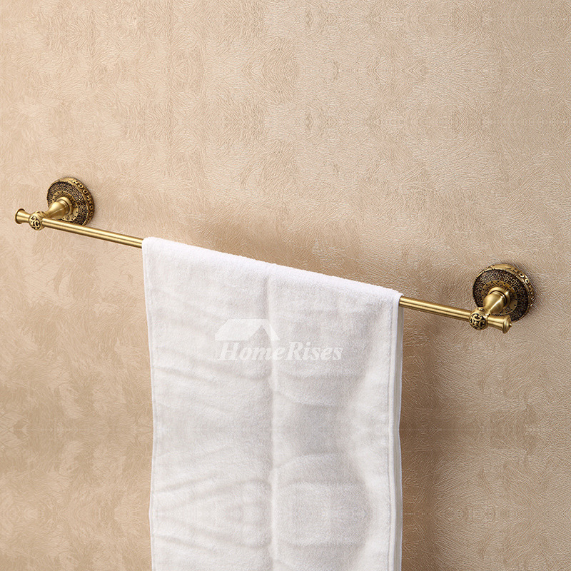 Ltj Luxury Carved Wall Bathroom Towel Bars Antique Brass