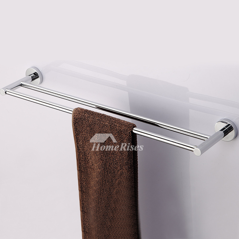 Ltj Chrome Towel Rack Luxury Brass Wall Mount Bathroom Modern