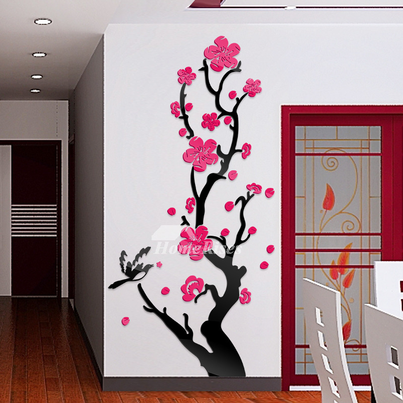 Affordable Wall Decor: Flower Wall Decals Acrylic Personalized For Bedroom Home