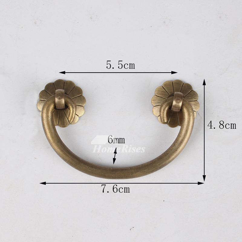 Exquisite 3.5/4 Inch Vintage Brass Antique Drawer Pulls Cabinet Unique