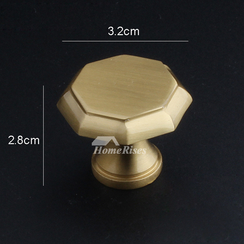 Kitchen Knobs Brushed Antique Brass Closet Interior Gold