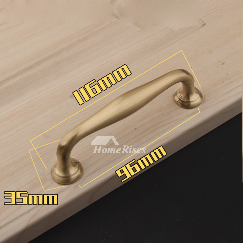 - 5/6/5/8 Inch Gold Cabinet Pull Handles Antique Brass Dresser Drawer