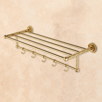 LTJ Oil-Rubbed Bronze Towel Hook Rack Wall Gold Black Luxury