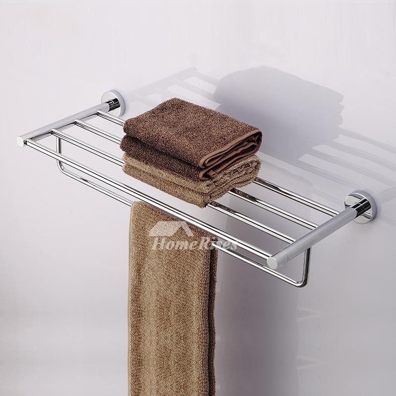 Ltj Luxury Antique Brass Carved Bathroom Towel Rack Chrome