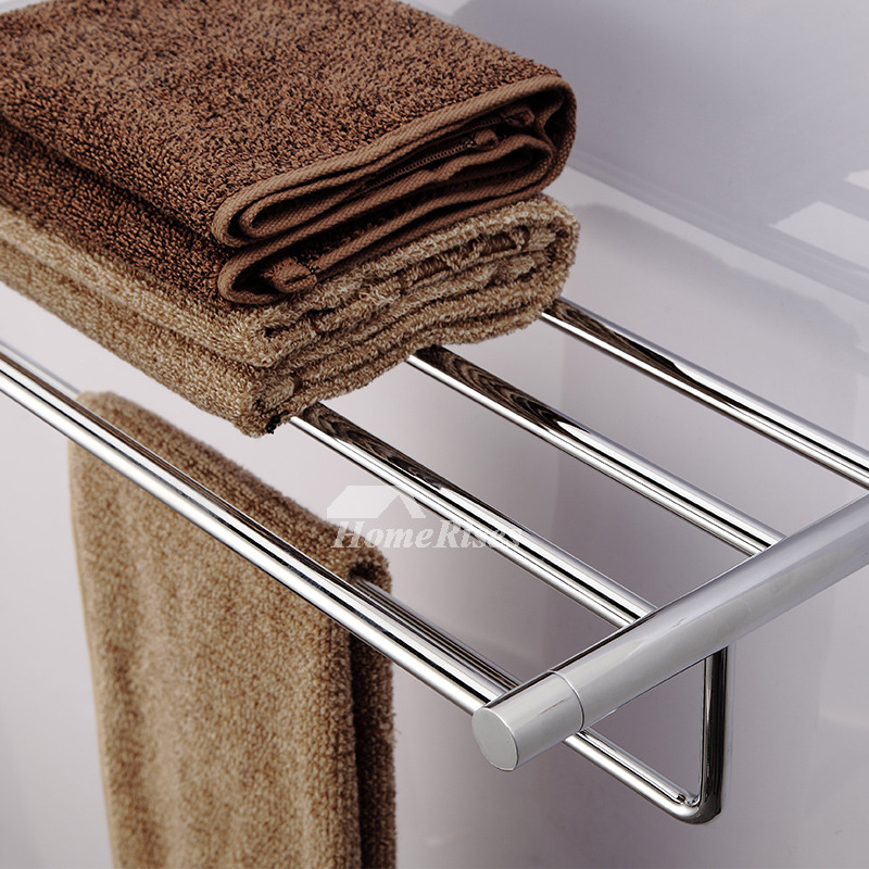 Ltj Luxury Antique Brass Carved Bathroom Towel Rack Chrome Wall