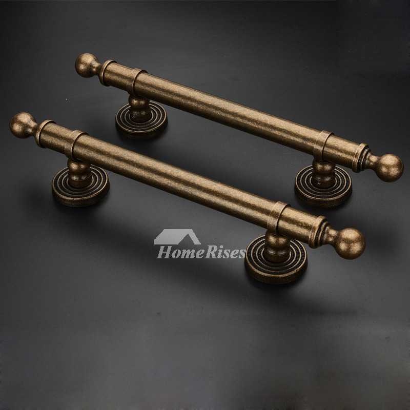 Antique Brass Door Handles Interior Kitchen Furniture Vintage 1 Pc