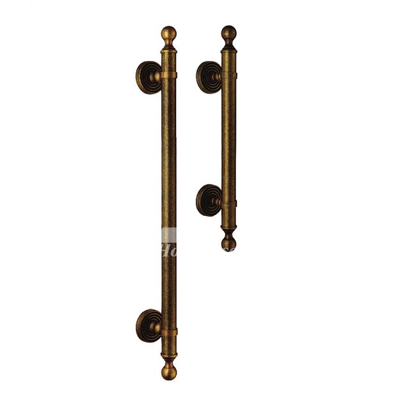 Antique Brass Door Handles Interior Kitchen Furniture Vintage 1 Pc