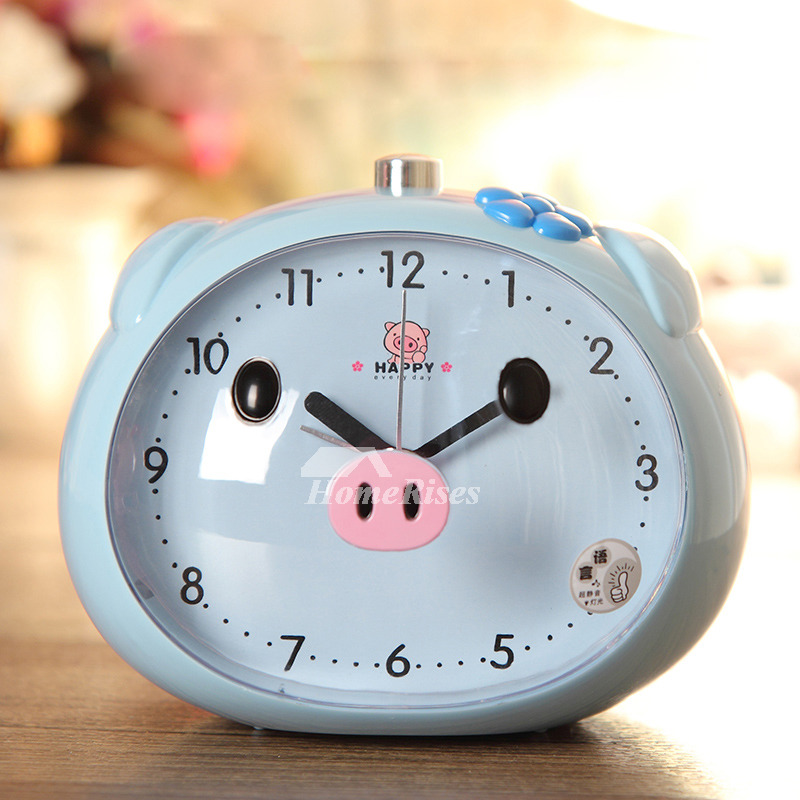 Cute Alarm Clock Kids Abs Plastic Silent Heavy Sleepers