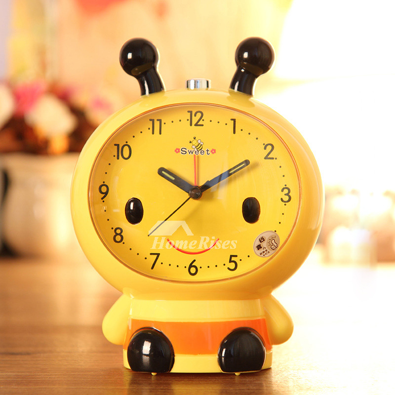 Pink Alarm Clock Abs Plastic Cute Loud Cartoon Best