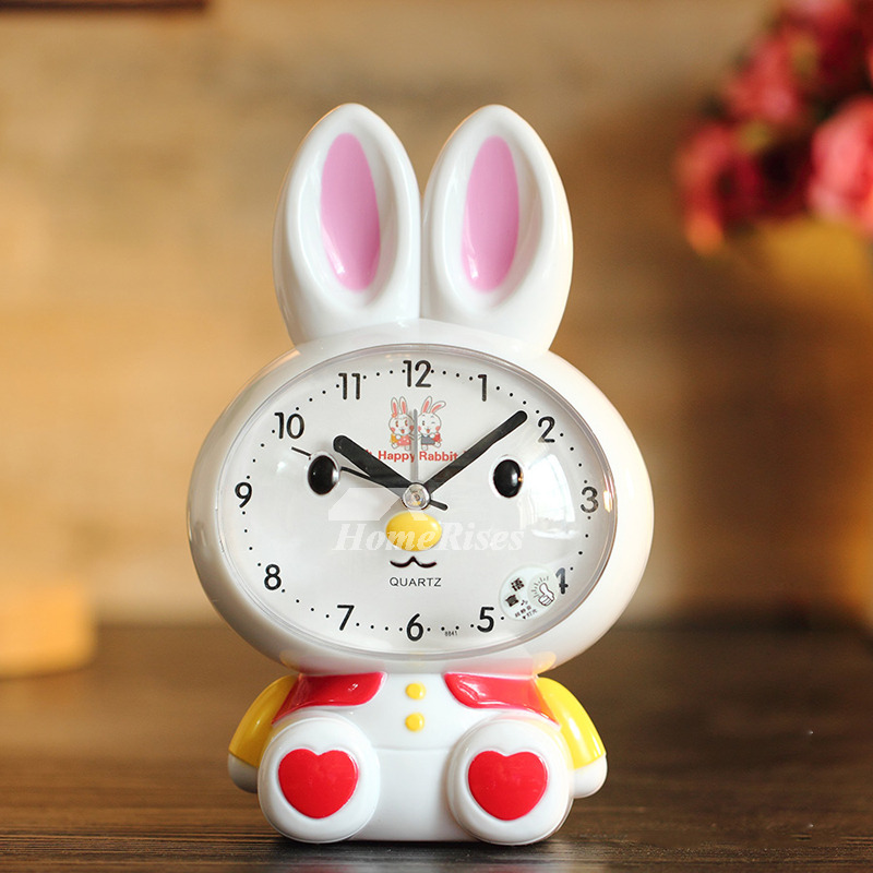 Alarm Clock Sound Abs Plastic Cute Silent Funny Modern