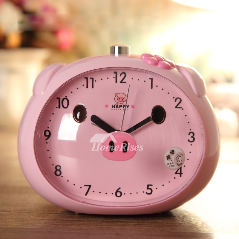 Funny Alarm Clocks Abs Plastic Cute Modern Silent Blue