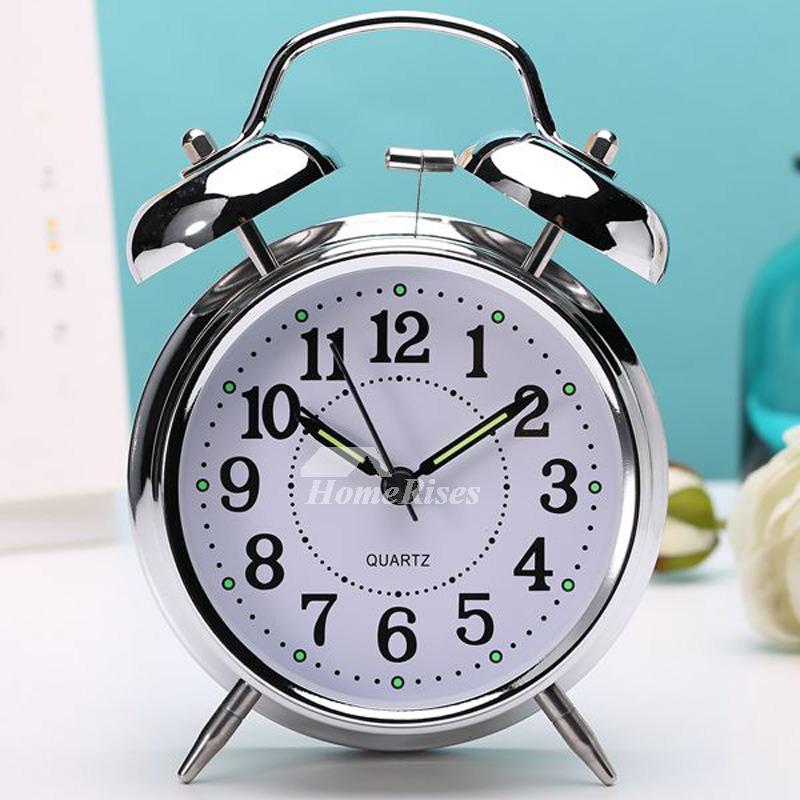 Creative Best Alarm Clock Kids Metal Modern Silent Black