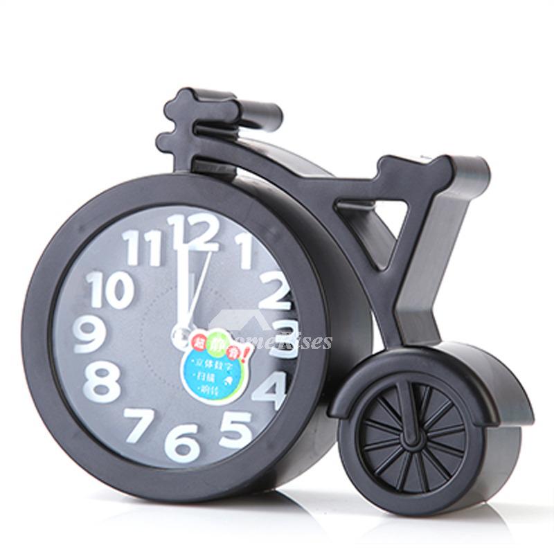 Small Alarm Clock Green Pink Black Blue Plastic Free