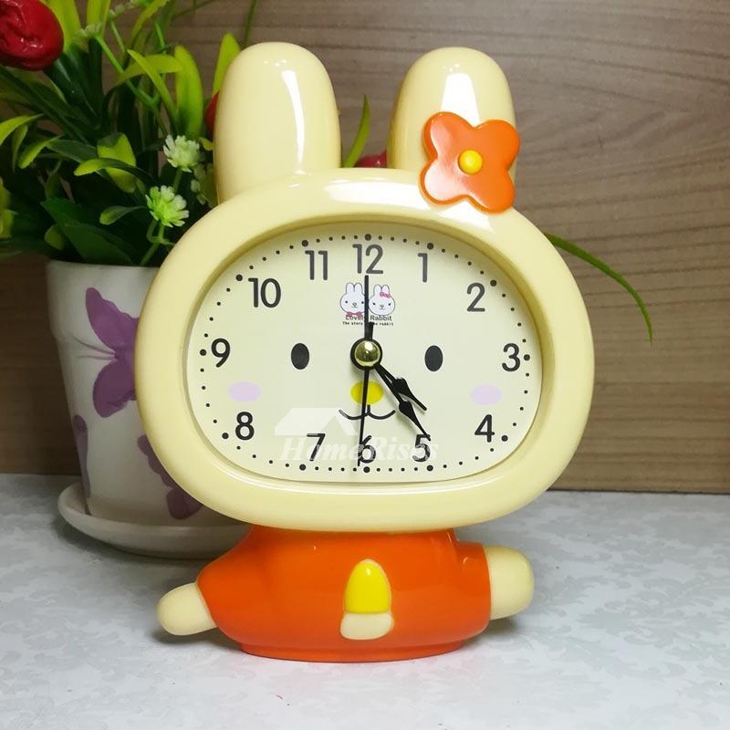 Cute Alarm Clock Unique Abs Plastic Kids Green Blue Yellow