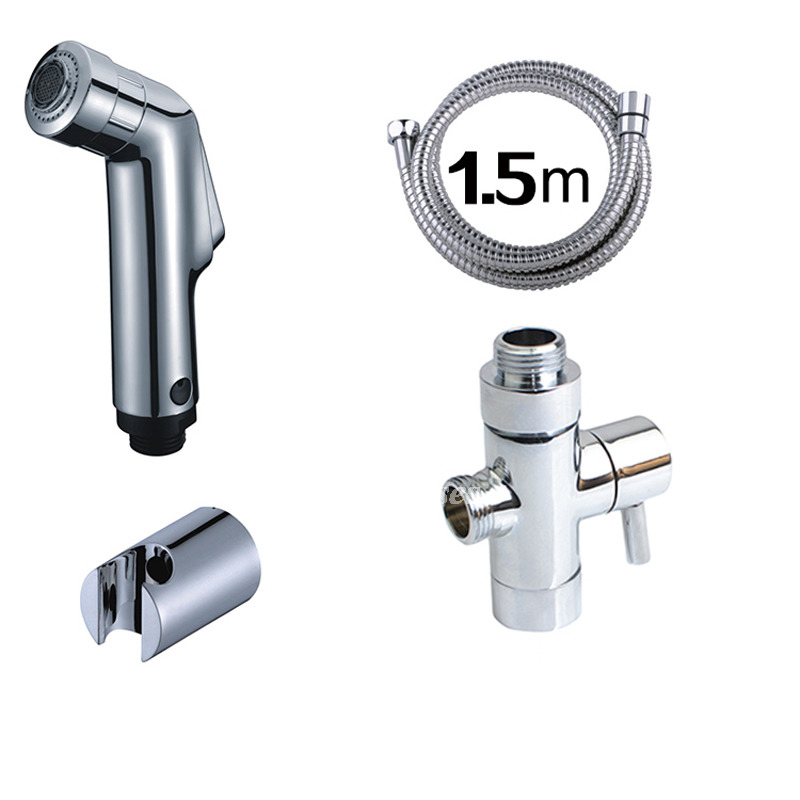 Bathroom Bidet Spray Wall Mount Silver Abs Plastic Modern Water Solid
