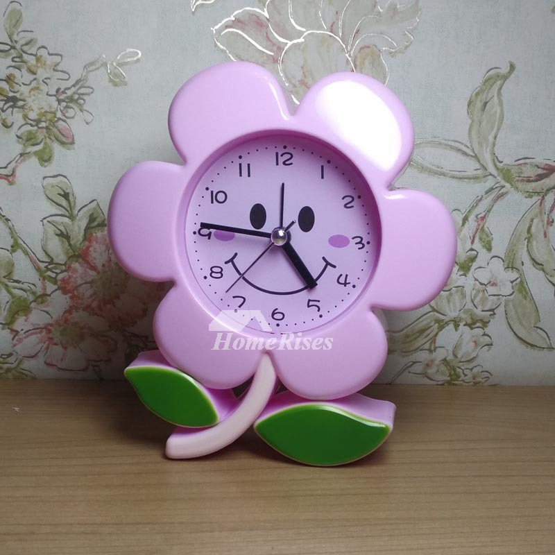 Unique Alarm Clocks Moon Flower Abs Plastic Small Silent