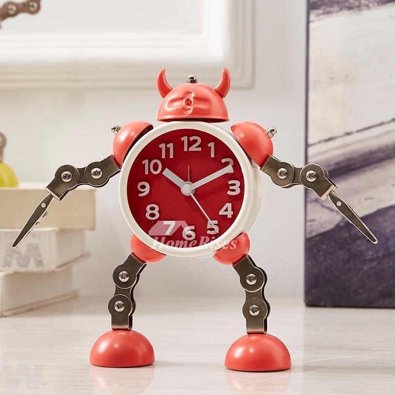 Designer Alarm Clock Boys Metal Chic Silent Funny Best