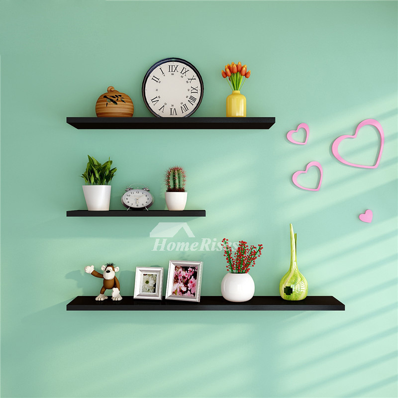 Contemporary Wall Shelves Decorative: Wall Shelves And Ledges Modern Decorative Black Living Room