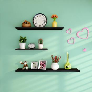 Merveilleux Wall Shelves And Ledges Modern Decorative Black Living Room