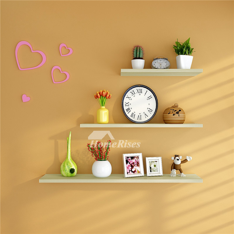 Kitchen Wall Shelves Wall Mounted White Wooden Modern Classic