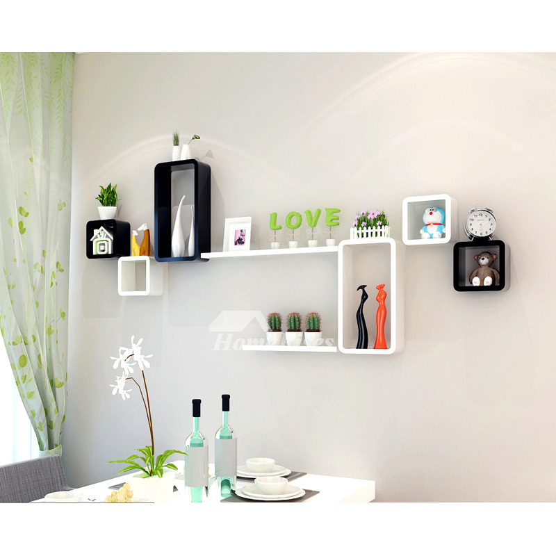 bedroom shelf ideas modern wooden cube wall shelves wall mounted white decorative 10662