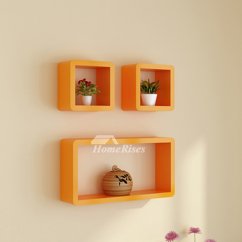 modern wall shelves white pink blue wooden wall mounted decorative rh homerises com Small Decorative Wood Shelf Decorative Shelves for Small Bathrooms