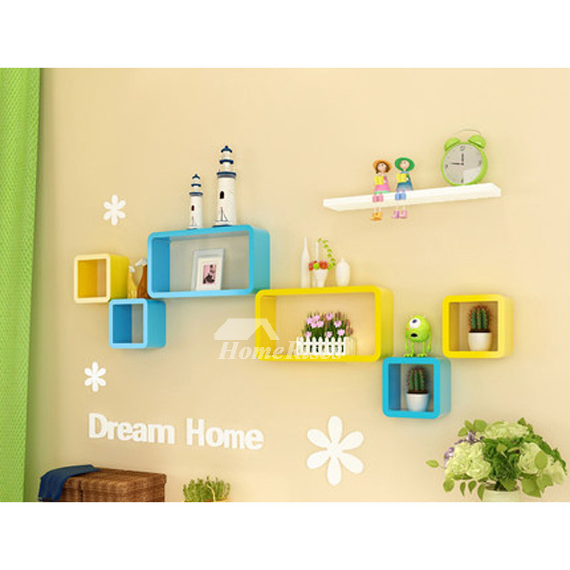 bedroom wall shelves decorative wooden square unique ledage best Best Wall Shelves
