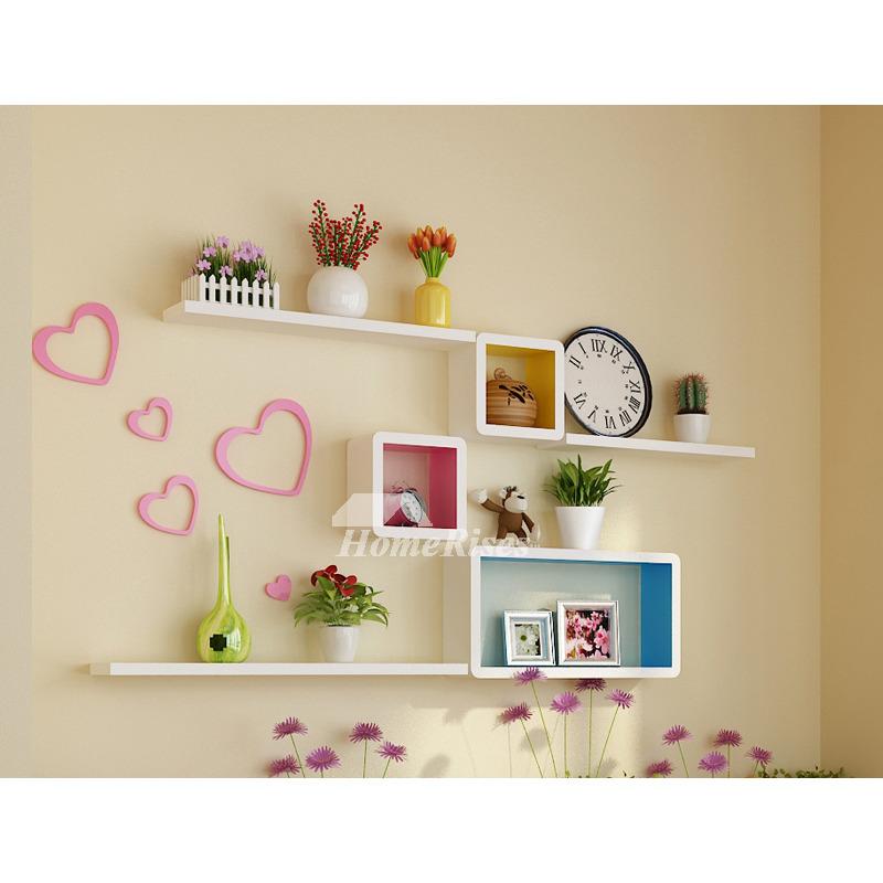 Bedroom Wall Shelves Decorative Wooden Square Unique Ledage Best