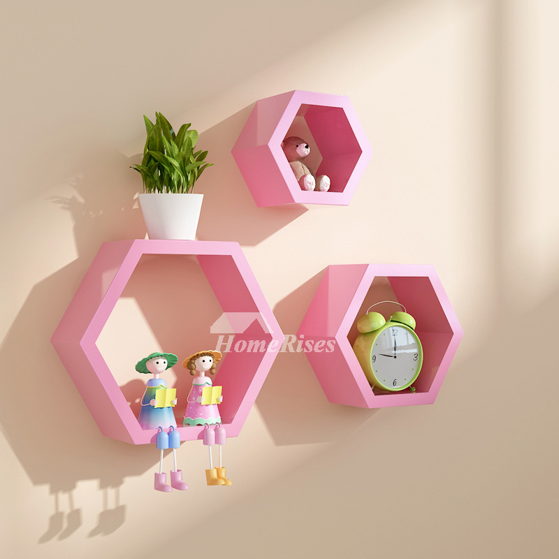 Decorative Wall Shelves Hexagon Wooden Modern Living Room Best