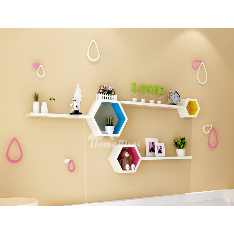 Unique Wall Shelves Wooden Decorative Modern Living Room For Sale