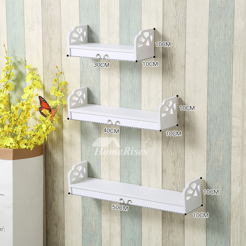 Contemporary Wall Shelves Decorative: Hanging Wall Shelves White Ledges Decorative Cheap Modern Designer