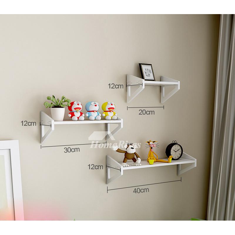White Wall Mounted Shelves Pvc Ledges Decorative Unique Living Room