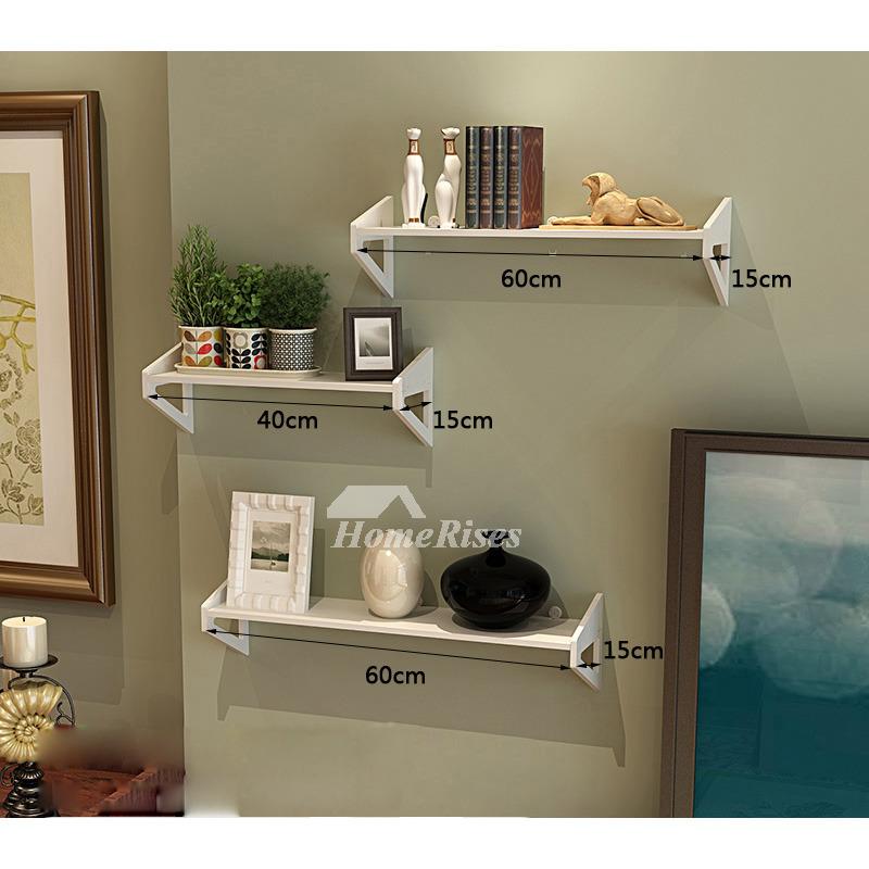 Unique Living Rooms: White Wall Mounted Shelves PVC Ledges Decorative Unique