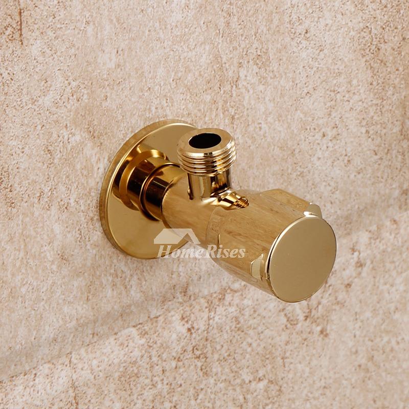 Angle Stop Valve Brass Polished Brass Wall Mount Good Quality