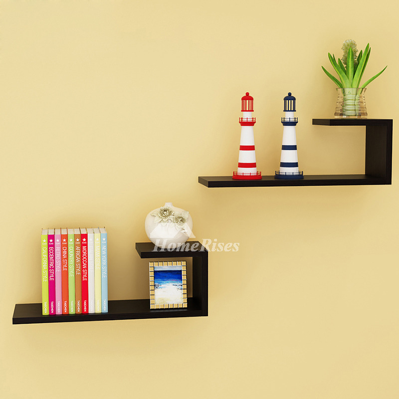 new product d97bc 89124 Wall Mounted Book Shelves Contemporary Design Hanging Wooden