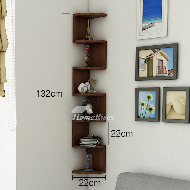 Corner wall shelf wooden decorative creative living room - Shelves design for living room ...