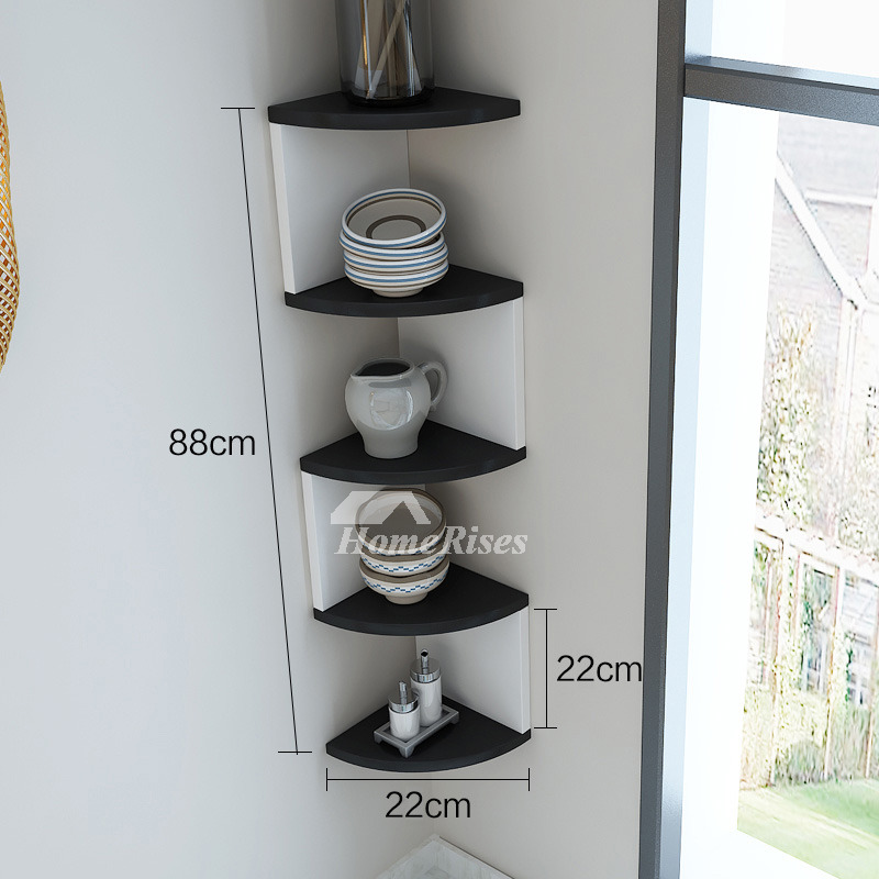 Living Room Corner Shelf: Corner Wall Shelf Wooden Decorative Creative Living Room