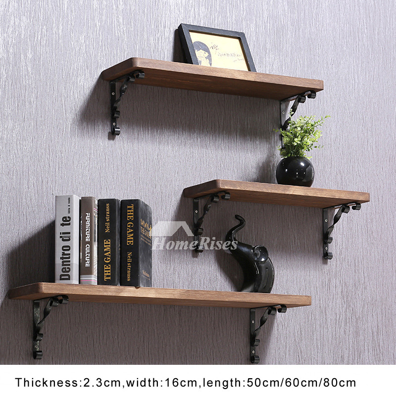contemporary wall shelves wooden ledges decorative rustic design. Black Bedroom Furniture Sets. Home Design Ideas