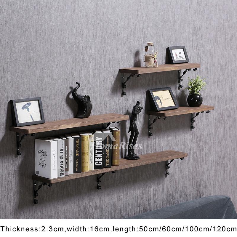 Contemporary Wall Shelves Wooden Ledges Decorative Rustic Design