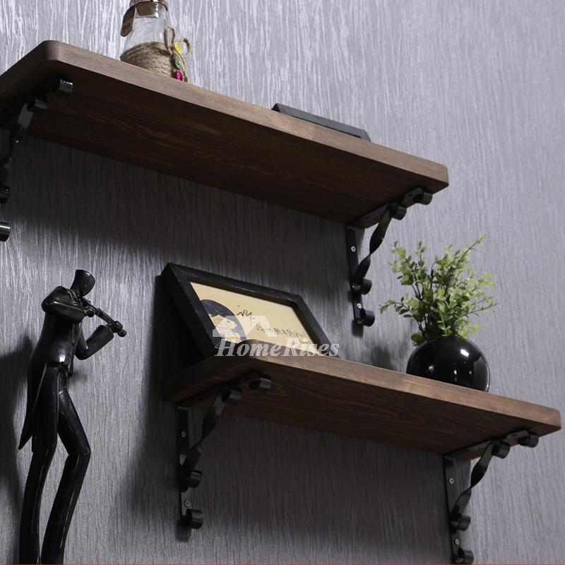 Contemporary Wall Shelves Decorative: Contemporary Wall Shelves Wooden Ledges Decorative Rustic